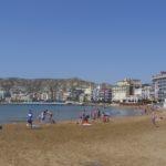 spiaggia di fronte all'alloggio